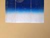 irisdruk op bruin papier (sojamelkpakdruk)