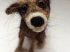 hondje van hondenvacht, gevilt op basis van schaap