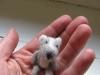 heel klein beertje van hondewol