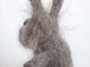 grijs konijntje van konijnenwol