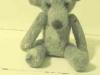 grote grijze teddybeer van hondewol