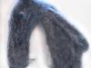 grijze boze wolf van hondewol