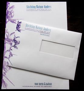 Stichting Natuur Anders briefpapier